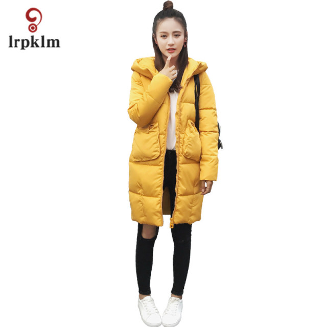 2017 New Long Parka Winter down Jacket  Women cute CoatS  Thick Cotton Women's Outerwear Parkas  Winter girl gift Xmas  LZ643
