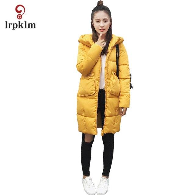 2017 Yeni Uzun Parka Kış aşağı Ceket Kadın sevimli Mont Kalın Pamuk kadın Giyim Parkas Kış kız hediye Xmas LZ643