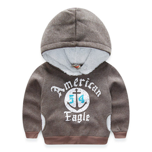 2016 autumn and winter children's clothing  boys fleece with a hood sweatshirt outerwear kids casual hooded coat
