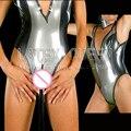 Nova moda bodysuits de látex collant das Mulheres