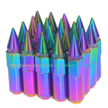 20pcs Blox Neochrome Extended Tuner Wheel Lug Nuts With Spike (M12XP1.5)