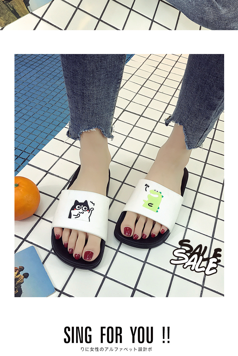 WHOHOLL Man Home Slippers Summer Sandals 2019 New Anti-skid Outside Wear Indoor Home Bathroom Bath Couple Cold Slippers Male 12