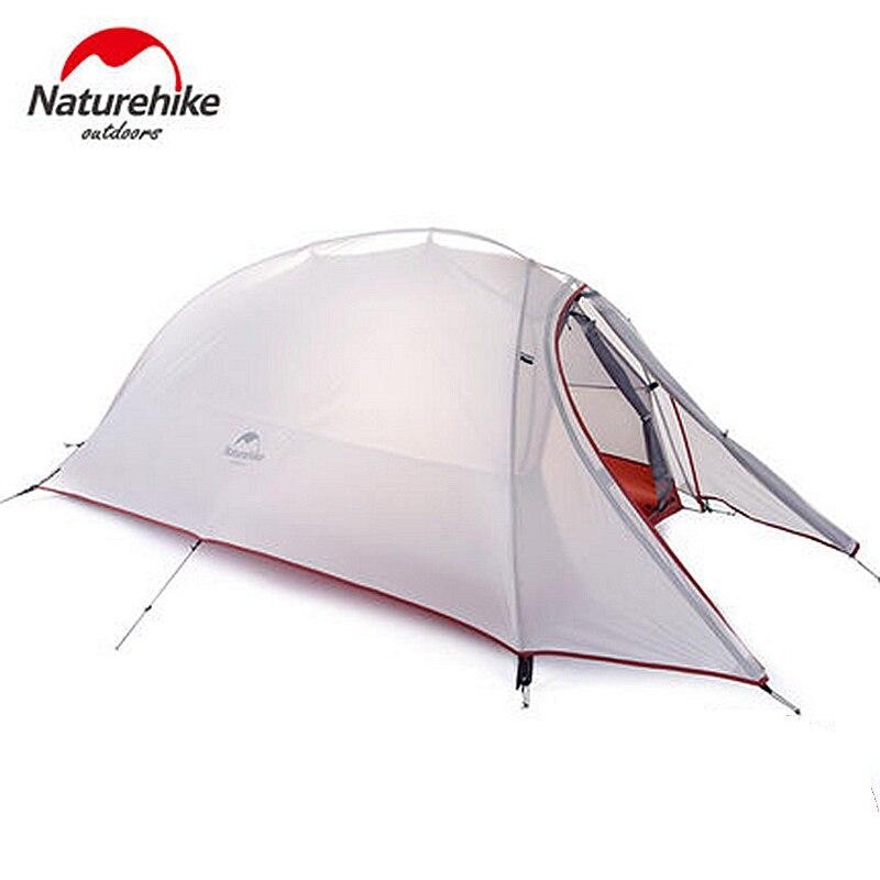 Naturel randonnée 1 personne tente Double couche tente étanche dôme tentes Camping 4 saisons tentes NH15T001-T avec 1 personne tapis de sol