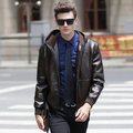 2016 New Fashion Vintage Leather Jacket Men High-grade Quality Classical Jaqueta Couro Men Size M,L,XL,XXL,XXXL Veste Cuir Homme
