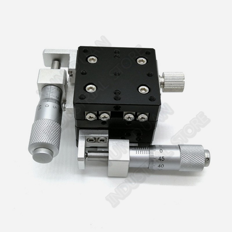 Trimming Station Manual Displacement Platform XY Axis 30*30mm  Cross Roller Guide Way Linear Stage Sliding Table LY30-LTrimming Station Manual Displacement Platform XY Axis 30*30mm  Cross Roller Guide Way Linear Stage Sliding Table LY30-L