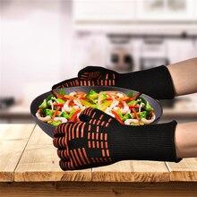 TTLIFE Ofenhandschuhe Handschuhe BBQ Grillen Kochhandschuhe Beständig Handschuhe Lange Extremer Hitze Für Extra Unterarm Schutz