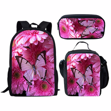 2019 New Hot Set Butterfly Printing Baby Kids Preschool Boy Girl Small School Bags Mini Children Kindergarten Backpack(China)