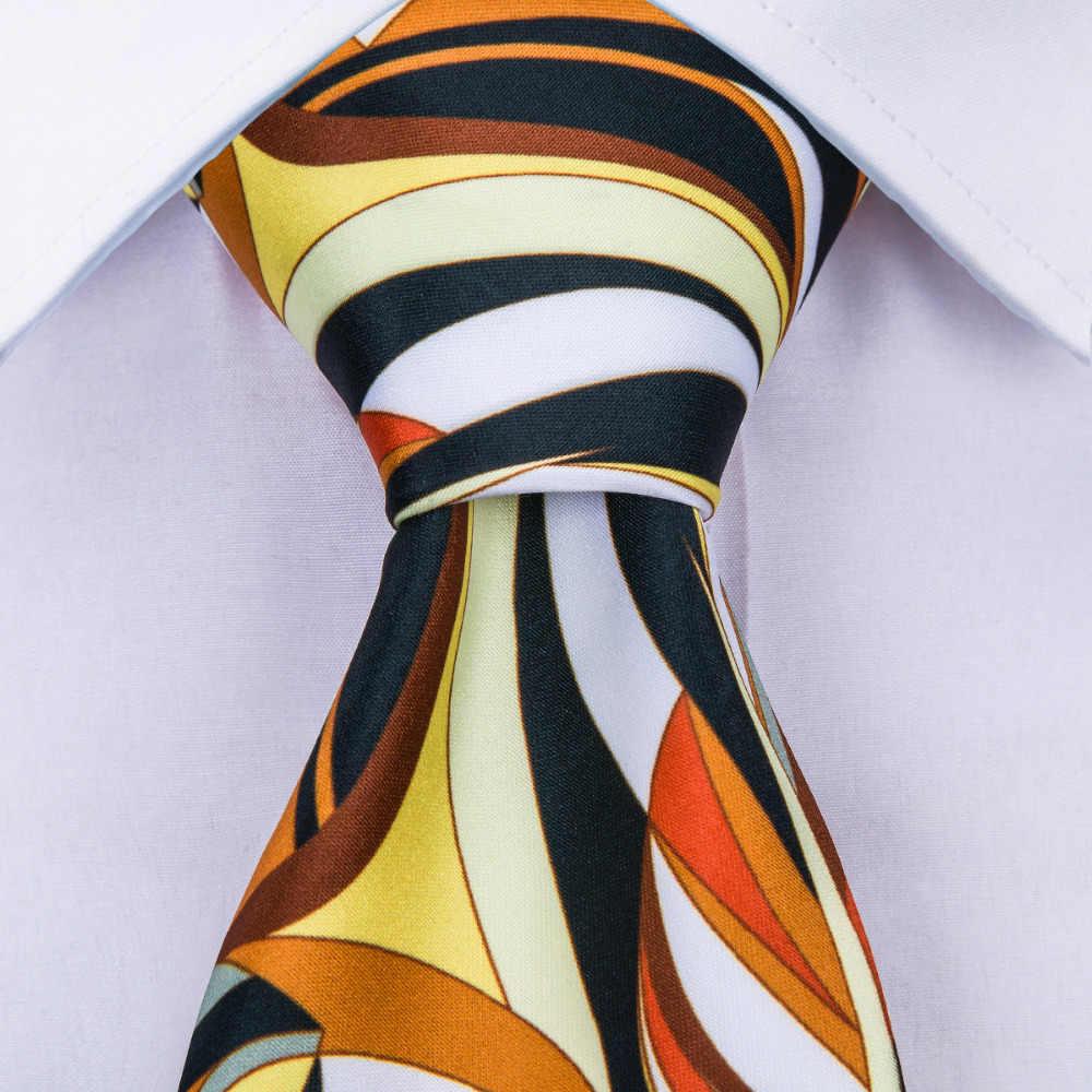 56cc28fcb290 ... DiBanGu 2018 New Arrival 12 Styles Silk Ties For 8.5CM Orange Color  Men's Neckties For ...