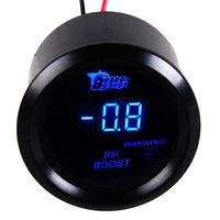 EE support 2 52mm Black Shell Blue LED Auto Car Digital PSI Turbo Boost Gauge Meter Clock XY01