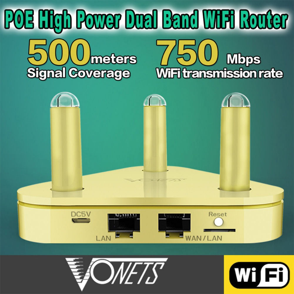 VAR5G High Power Dual Band Wireless Router Repeater 2.4GHz 300Mbps+5Ghz 450Mbps US/ EU Plug