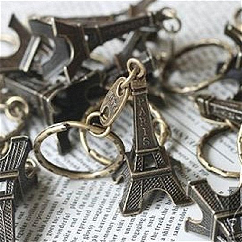 20 Pcs Eiffel Tower Keychain Wholesale Keys Souvenirs Paris Tour Retro Classic Key Ring Decoration Holder For Women Gift