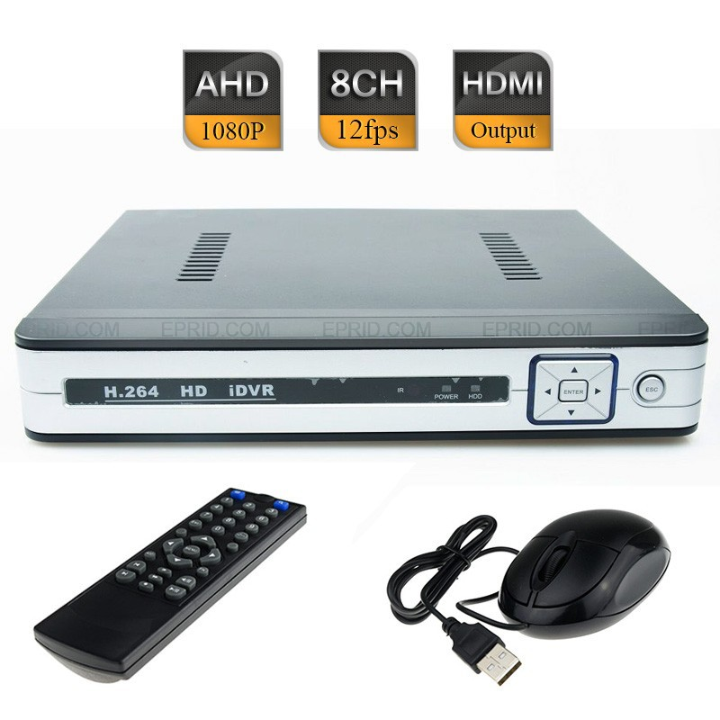 8CH AHD-H 1080P Non-Realtime CCTV Hybrid DVR HD NVR HVR HDMI Port P2P Cloud