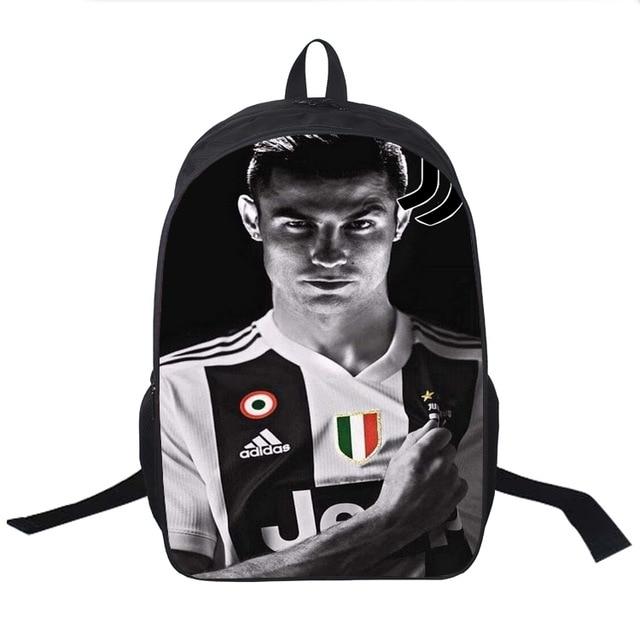 High Quality Cristiano Ronaldo CR7 Backpack Fashion Surprise Gift Travel Rucksack Students Boys Girls School Bag Schoolbag
