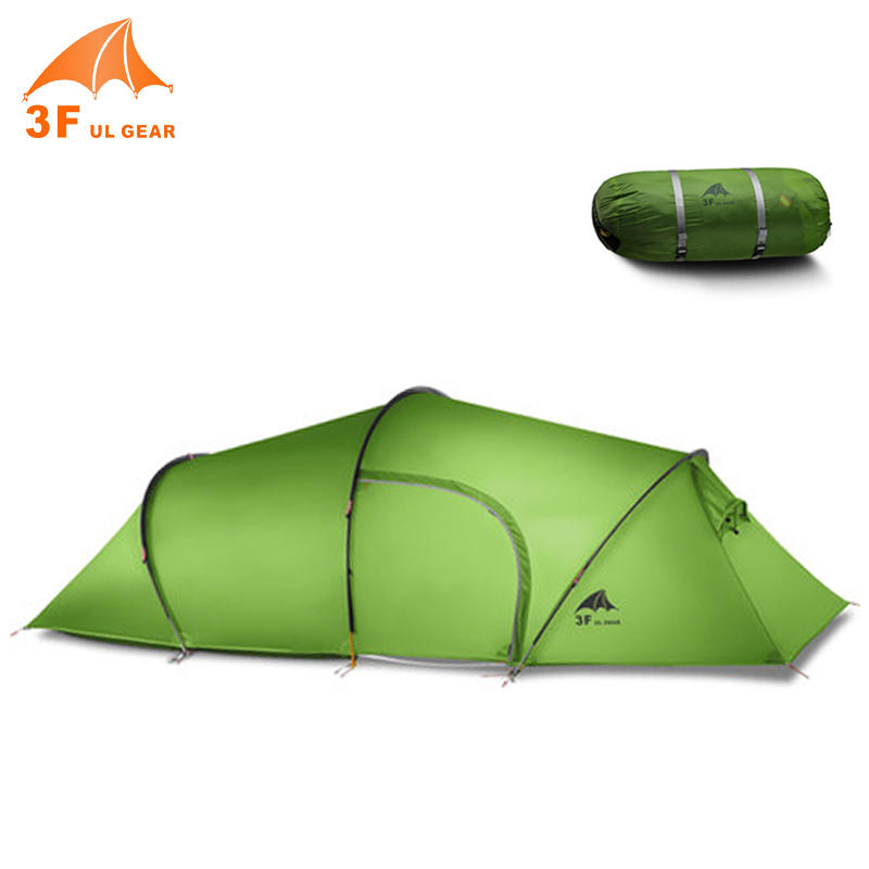 3F UL Gear 2 Person Double Layer Backpacking Camping Tunnel Tent Outdoor Travel Hiking Ultralight Waterproof Tent with Rainfly single bedroom apartment camping tent tunnel tents 2 3 person outdoor 2 layer driving filed tent canopy easy and convenient