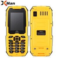 원래 Snopow M2 IP68 GSM 방수 내진성 휴대 전화 2500 미리암페르하우어 Superbattery