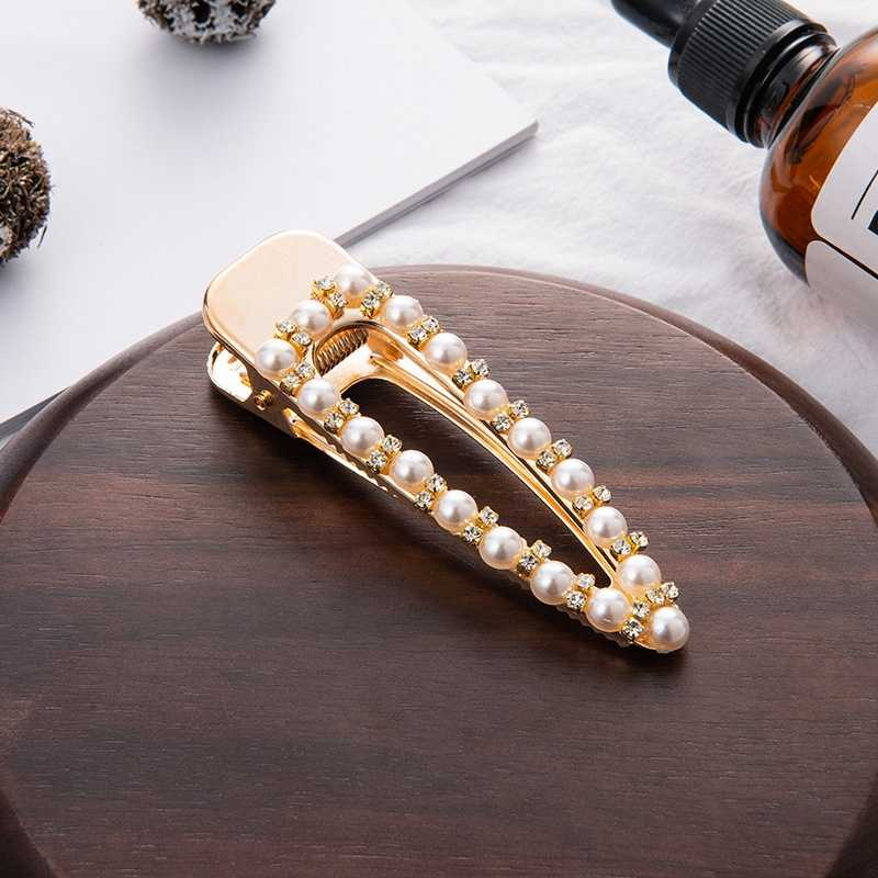 SHUANGR Fashion Barrettes Women Pearl Hair Clip Pins Wedding Jewelry Accessories Mujer Korean Style Gold Hairwear Headpiece Set