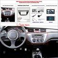 Quadro remontagem carro dvd gps de navegação para mitsubishi lancer ix 2006 2 DIN CD DVD Painel Dash Kit Placa/Quadro Rádio Áudio ABS fáscia