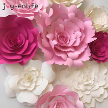 Buy paper flowers and get free shipping on aliexpress joy enlife 1pcs 30cm40cm diy paper flowers backdrop decorative artificial flowers wedding favors mightylinksfo