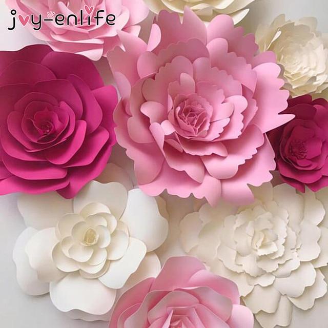JOY ENLIFE 1pcs 30cm/40cm DIY Paper Flowers Backdrop Decorative ...