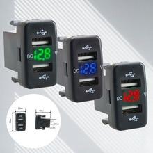 купить 4.2A Car Charger Socket Dual USB Port Charging Volt Display Adapter for Smart Mobile Cell Phone Socket Charger Power Adapter по цене 305.47 рублей