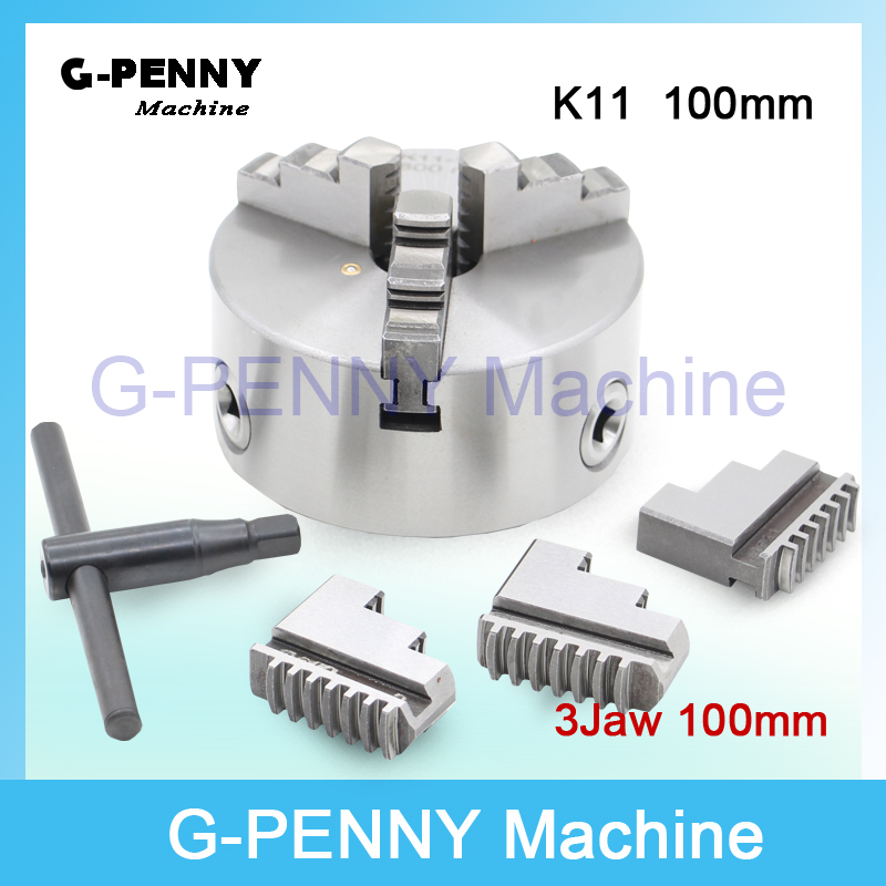 CNC 4th axis A axis 100mm 3 jaw Chuck self-centering manual chuck K11 fourth jaw for CNC Engraving Milling machine Lathe Machine chuck jaw self centering chucks k11 100 chuck jaw cnc machine diy