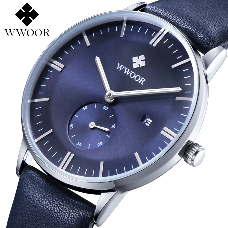Brand wwoor Men's watches quartz-watch Watch men quartz watch vintage calendar Luxury relogio masculino Genuine nabu watch