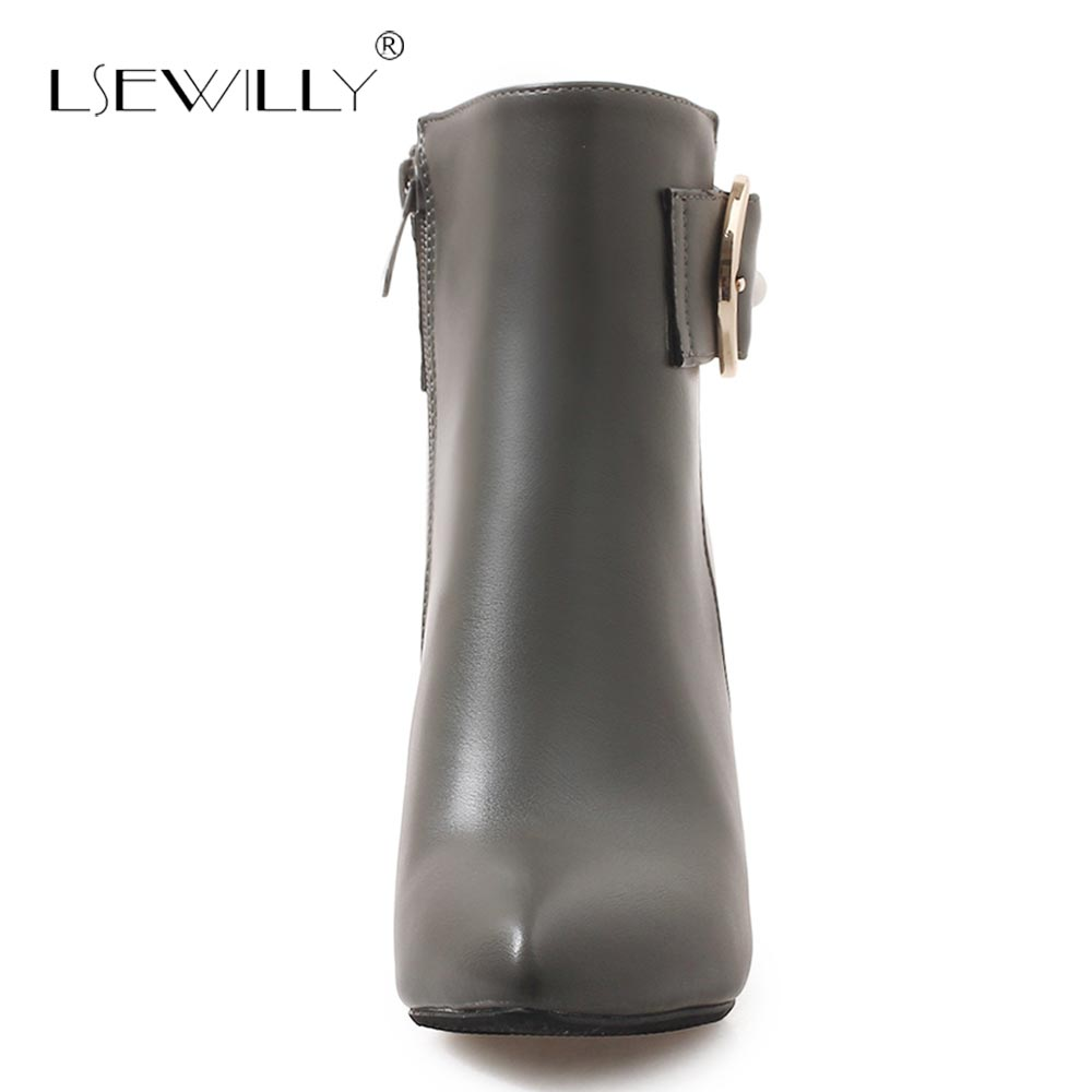 Noir Femelle Hauts Femmes Chaussures Femme 46 Green Lsewilly Taille army Pointu gris Grande Bottes S612 Charme 32 Cheville Orteil Glissière D'hiver Talons IwAwUpxzq