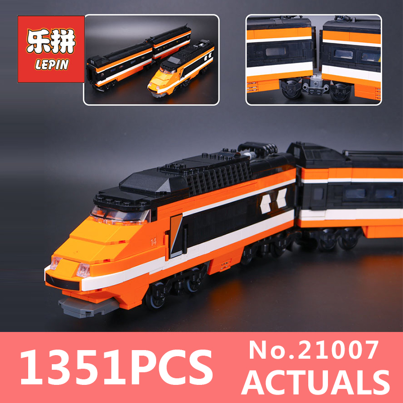 1351Pcs Lepin 21007 Horizon Express Technic Train Building Bricks Blocks Gift Toys for Children Edational toys 10233