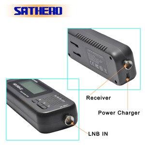 Image 3 - Sathero SH 100HD DVB S2 localizador de satélite digital, localizador de satélite digital de alta definição portátil, metros de gabinete grátis