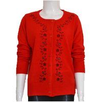 Spring Autumn Middle Age Women Sweater 2016 Women 4XL Plus Size Printed Cardigan Thin Cardigan Sweater