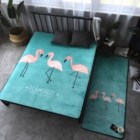 Creative Carpet Flamingo Design Rectangle Floor Bedroom Chair Seat Carpet Very Soft Baby Crawling Mat Home Decoration 59X74 Inch