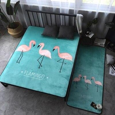 Tapis créatif Flamingo Design Rectangle étage chambre chaise siège tapis très doux bébé ramper tapis décoration de la maison 59X74 pouces