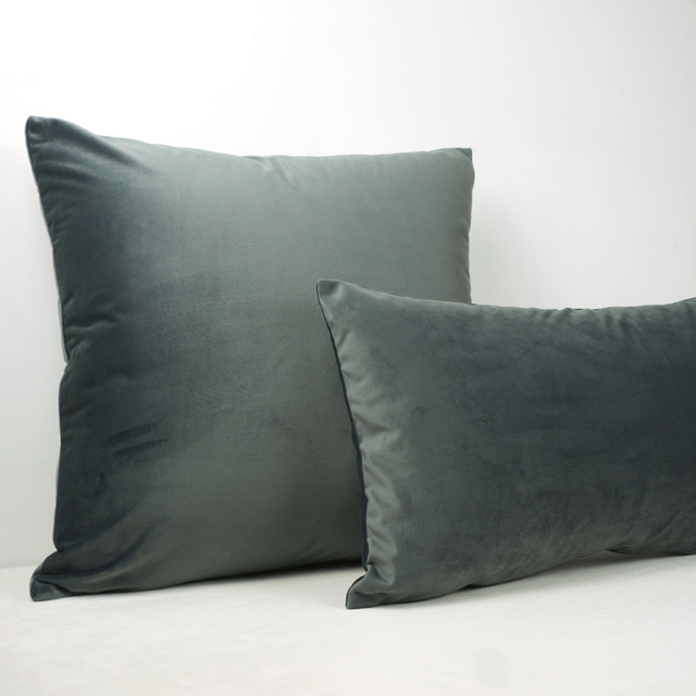 US 19 OFF Bright Gray Velvet Cushion Cover Pillow Case Lovely Soft Pillow Cover No Balling Up Without Stuffing In Cushion Cover From Home