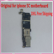 100% Test & Good Working 16GB Original Unlocked Motherboard For iphone 5C Mainboard with Chips,DHL/EMS Free Shipping