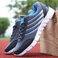 2017 Моды для Мужчин Повседневная Обувь Сетки Воздуха Тренеры Летние Мужчины Холст Обувь на Шнуровке Корзина Дышащий Прогулки Zapatillas Hombre