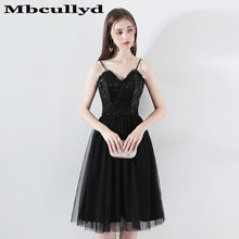 b32c84cdf Mbcully 2019 elegante sin mangas corto vestidos de baile negro de  lentejuelas Vestido de Gala Vestido de fiesta nuevo barato en .