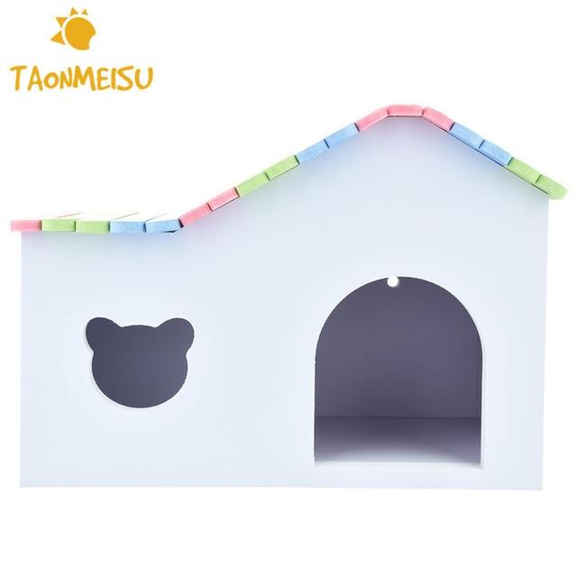 Красочные деревянные хомяка дом для шиншилл морской свинки 25.5*15.5*18 см 1 шт. Новинка 2017 года Высокое качество