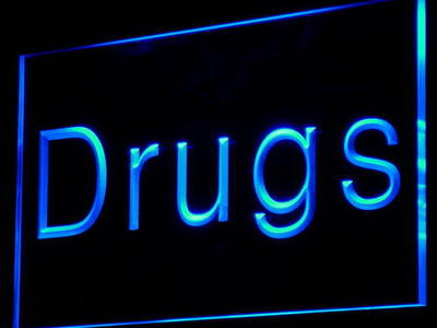 i818 Drugs Store Pharmacy Display NEW Decor Neon Light Sign On/Off Swtich 20+ Colors 5 Sizes