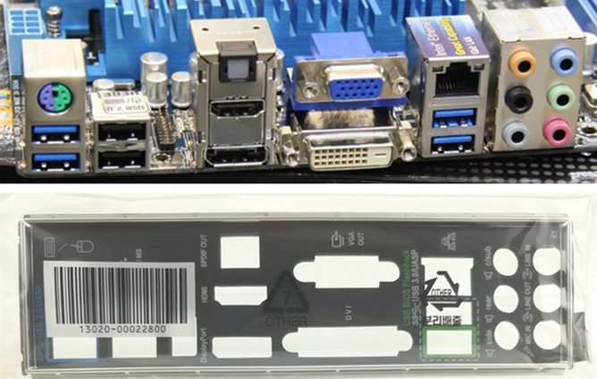 I//O Shield For backplate ASUS P8Z77-V LE PLUS /& P8Z77-V LE IO backplate