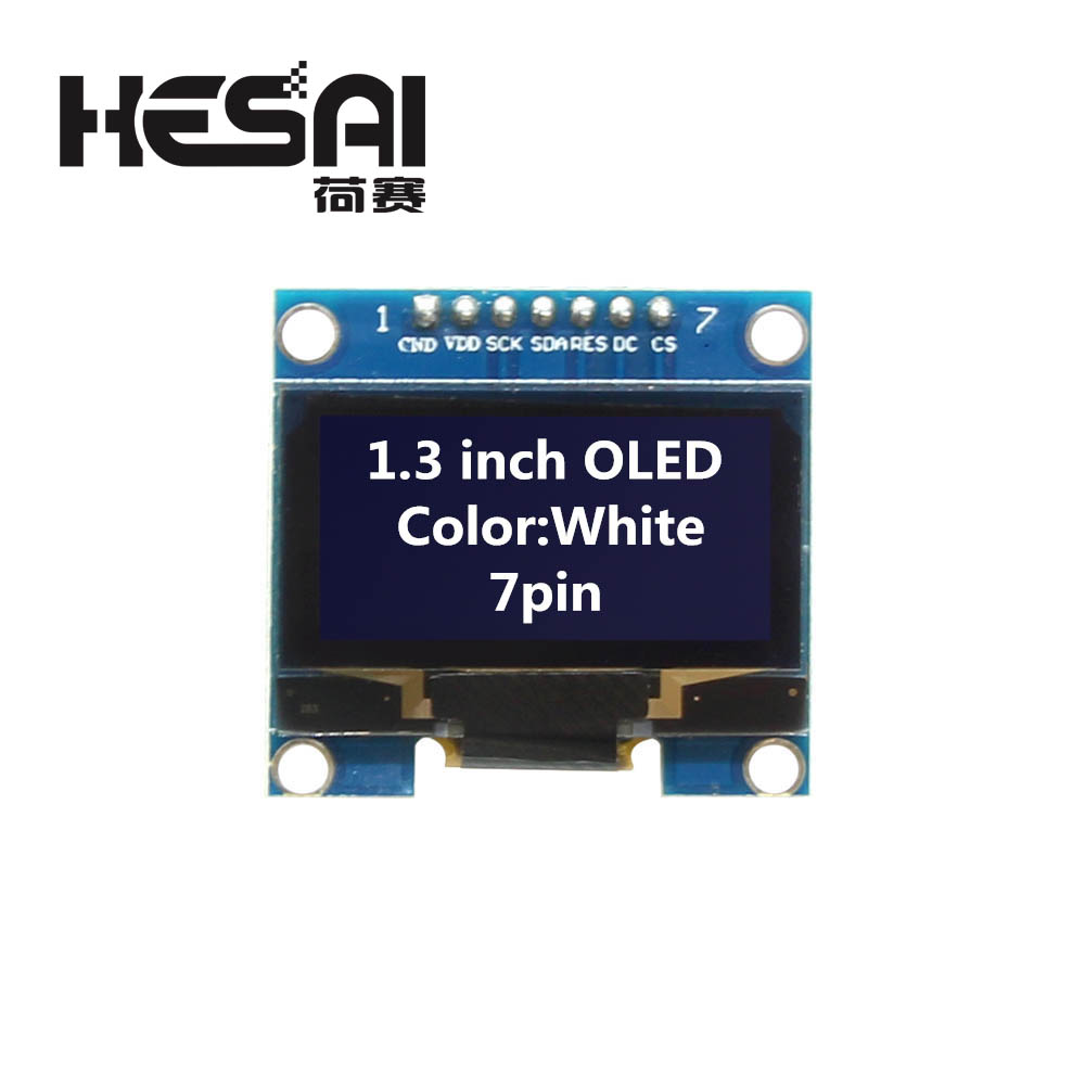 Image 5 - 1.3 Inch OLED Module White Color 128X64 OLED LCD LED Display Module 1.3 IIC I2C SPI Communicate for arduino Diy Kit-in LCD Modules from Electronic Components & Supplies