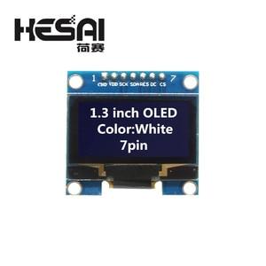 Image 1 - 1.3 بوصة OLED وحدة اللون الأبيض 128X64 OLED شاشة LCD LED وحدة 1.3 IIC I2C SPI التواصل لاردوينو لتقوم بها بنفسك عدة
