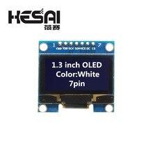 1.3 inç OLED modülü beyaz renk 128X64 OLED LCD LED ekran modülü 1.3 IIC I2C SPI İletişim arduino Diy için kiti