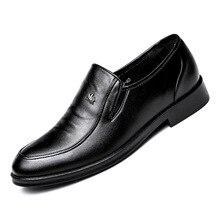 f5b7cec55aca Lederschuhe Männer Marke Schuhe rutschfeste Dicke Sohle Mode Für Männer  Freizeitschuhe Männliche Hohe Qualität Rindsleder Loafers