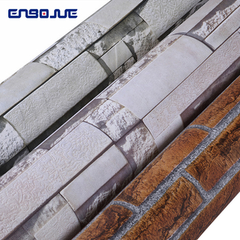 Vintage 3D Brick Pattern Wallpaper PVC Culture Stone Wallpapers Self Adhesive Living Room TV Background Waterproof Wall Stickers 3d brick wall stone wallpaper modern vintage living room tv sofa background wall covering gray brick wall papers papel de parede