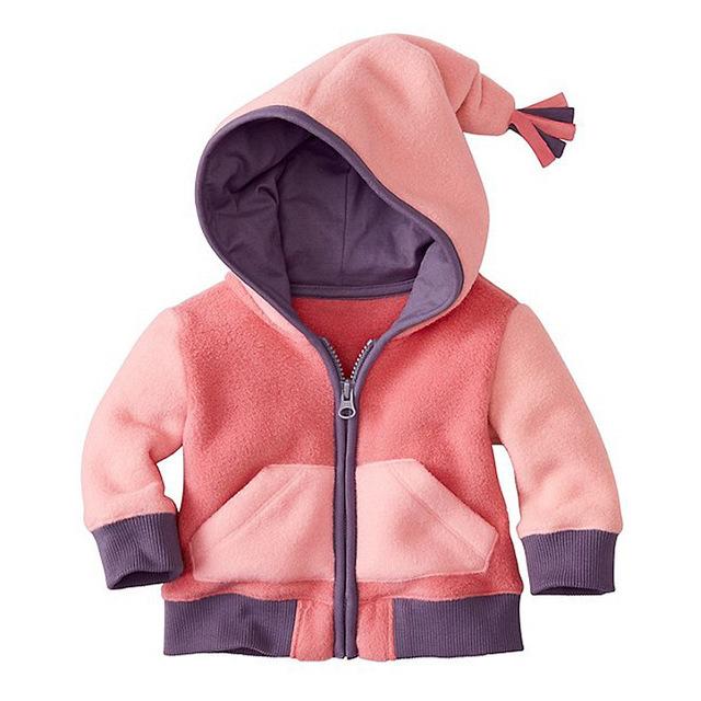 2016 Muchachos de Los Bebés Chaqueta de Abrigo de lana Con Capucha Niño Outwear La Ropa de Abrigo Niños ropa de niño otoño invierno chaquetas de lana