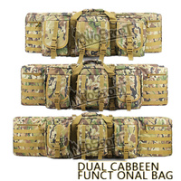42/107cm Military Tactical Outdoor Hunting Bags Dual Carbine Two Rifles Hunting Bag for Paintball Gun Shooting Functional Bags