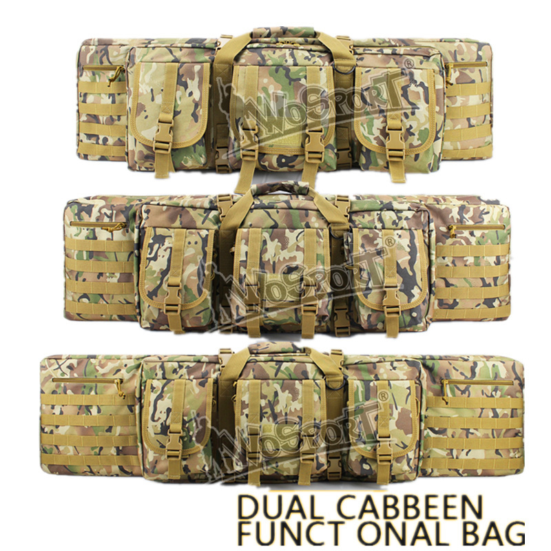 42/107cm Military Tactical Outdoor Hunting Bags Dual Carbine Two Rifles Hunting Bag for Paintball Gun Shooting Functional Bags ...