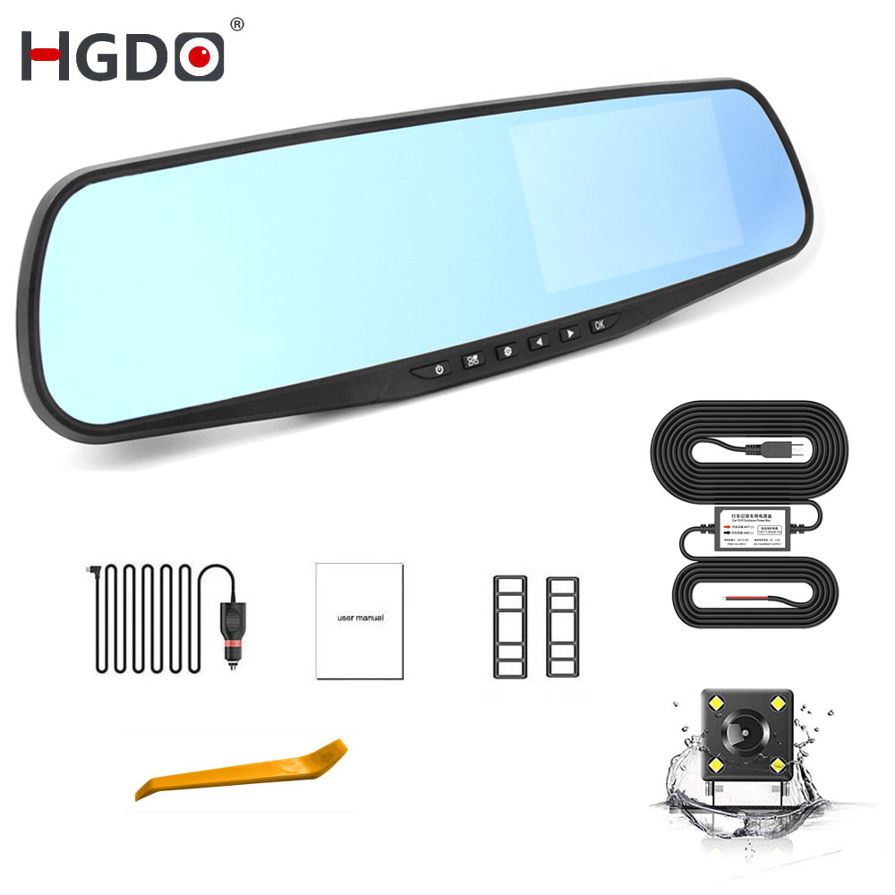 HGDO Video-Recorder Car-Camera Anti-Glare-Mirror Auto-Registrator Rear-View 1080P