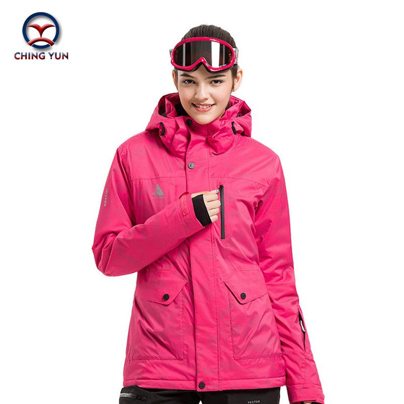 CHINGYUN winter women Geometric printed cotton coat windproof waterproof thermal  padded clothes ladies jacket and trouse7006 цены онлайн