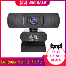USB 2.0 Web Digital Webcam Della Macchina Fotografica Full HD 1080 p Webcam con Microfono Clip-on 2.0 Megapixel Fotocamera CMOS web Cam per il Computer(China)